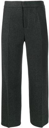 Woolrich Cropped Herringbone Trousers