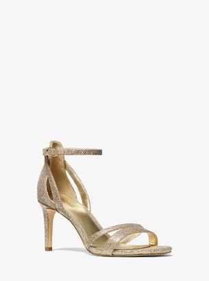 MICHAEL Michael Kors Kimberly Glitter Mesh Sandal