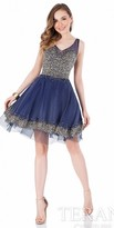 Terani Couture Multi Color Pearl Embellished Homecoming Dress