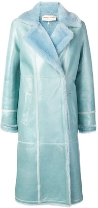 Emilio Pucci Contrast Texture Lined Coat