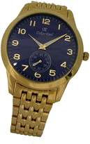Gents Oskar Emil Basel Gold Blue Classic Watch with Gold IP Plated Stainless Steel Case and Strap