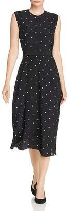 Narciso Rodriguez Polka Dot Silk Midi Dress