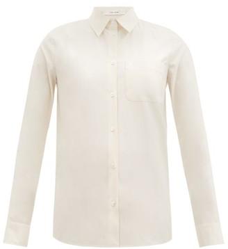 The Row Pierro Cotton-blend Poplin Shirt - Eggshell