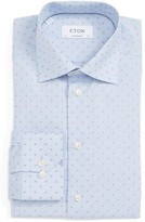 Eton Men's Contemporary Fit Dot Dress Shirt