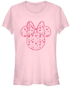 Fifth Sun Women's Disney Mickey Classic Minnie Hearts Fill Short Sleeve T-shirt