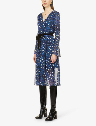 Diane von Furstenberg Ani spot-pattern woven midi dress