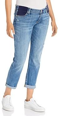 7 For All Mankind Josefina Boyfriend Maternity Jeans in Broken Twill Vanity