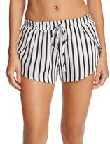 Tori Praver Deliah Stripe Cover-Up Shorts