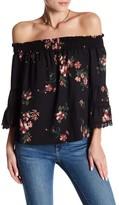 Jolt Off-the-Shoulder Crochet Lace Floral Blouse