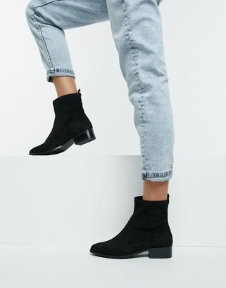 Aldo Erigori strech leather ankle flat boot