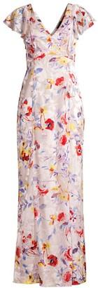 Parker Black Lielle Floral Gown