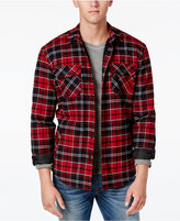 American Rag Men's Lined Plaid Shirt Jacket with Sherpa Lining, Only at Macy's