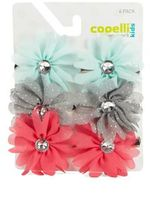 Capelli New York Girl's Floral Clip Set