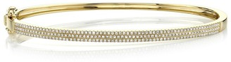 Ron Hami 14K Yellow Gold Pave Diamond Bangle Bracelet - 0.52 ctw