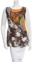 Marni Abstract Print Scoop Neck Top
