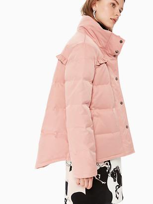 Kate Spade Ruffle Yoke Puffer Jacket
