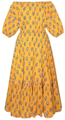 Rhode Resort Frida Dress in Yellow Flower