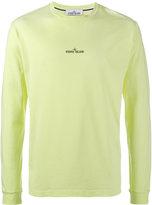 Stone Island logo print long sleeve sweater