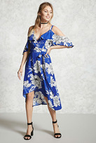 Forever 21 Contemporary Floral Wrap Dress