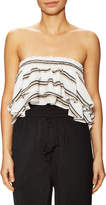 Lucca Couture Women's Striped Bandeau High Low Top