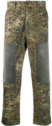 Diesel Upcycled camouflage jeans