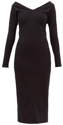 A.W.A.K.E. Mode Non Monroe Off-the-shoulder Cady Dress - Black