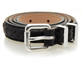J. Lindeberg Roller Black Leather Belt