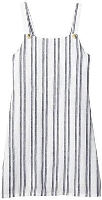 Cotton On Free Pini Dress (Big Kids) (Navy Stripe) Girl's Dress