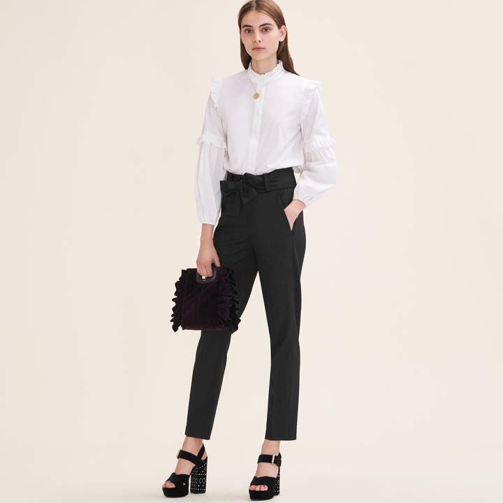 Maje Carrot trousers with bow