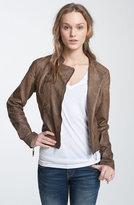 Joujou Jou Jou Weathered Faux Leather Quilted Moto Jacket (Juniors)