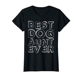 Womens Best Dog Aunt Ever T-Shirt Funny Auntie Gift Shirt
