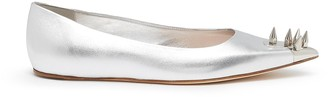 Alexander McQueen Punk Stud' Metallic Toe Stud Point Toe Ballet Flats