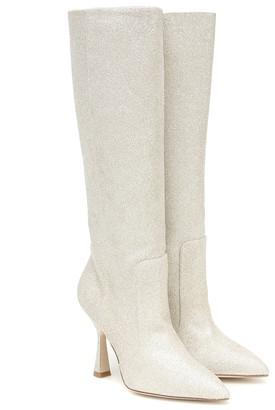 Stuart Weitzman Parton embellished knee-high boots