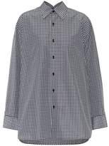 Balenciaga Pinched Collar cotton-blend shirt