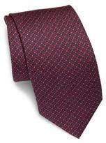 Brioni Geometric-Motif Silk Tie