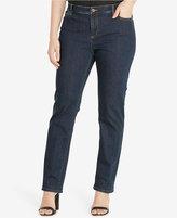 Lauren Ralph Lauren Plus Size Premier Rinse Wash Straight-Leg Jeans