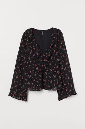 H&M Patterned chiffon blouse