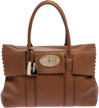 Mulberry Brown Scalloped Leather Bayswater Satchel