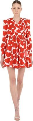 MSGM Lvr Exclusive Heart Crepe Mini Dress