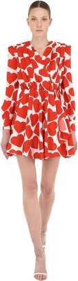 MSGM Lvr Exclusive Heart Crepe Mini Dress