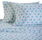 Panama Jack 300-Thread-Count Palm Tree Twin Sheet Set in Aqua