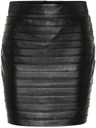 Alessandra Rich Leather miniskirt