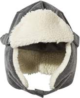 Il Gufo Grey Fleece Trapper Hat with Faux Fur Lining