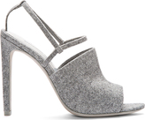 Grey Wool Slingback Maryna Sandals
