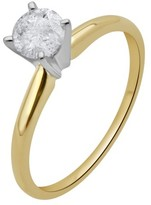 1/2 CT. T.W. IGL certified Round-cut Diamond Solitaire Prong Set Ring in 14K Yellow Gold (HI-I3)