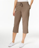 Karen Scott Pull-On Knit Capri Pants, Only at Macy's