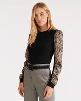 Veronica Beard Adler Mixed-Media Sweater