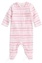 Aden Anais Infant Girl's Aden + Anais Star Print Long Sleeve Zipper One-Piece