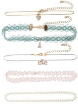 Capelli of New York Girl's 5-Pack Chokers