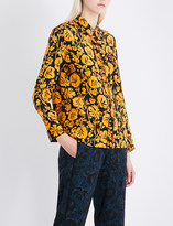 Kenzo Floral-print silk shirt